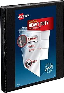 Avery Heavy-Duty Nonstick View Binder, 1/2 inch Slant Rings, 120-Sheet Capacity, DuraHinge, Black (05233)