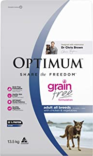 OPTIMUM Adult Grain Free with Chicken & Vegetables Dry Dog Food 13.5kg Bag, Adult, Small/Medium/Large