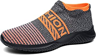 Men's Slip-Ons Sock Walking Shoes - Mesh Breathable Slip On Athletic Casual Fashion Shoes Sneakers Loafers Like Wear Socks