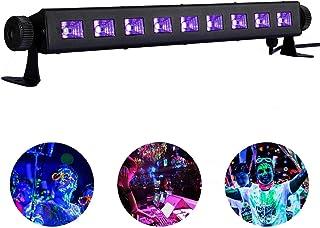 UV Schwarzlicht 9 LEDs Beleuchtung UV LED Licht 27W 360°Drehbare Led Bühnenscheinwerfer UV LED Effektlicht Black lights für Party, Disco, Club von Lacyie