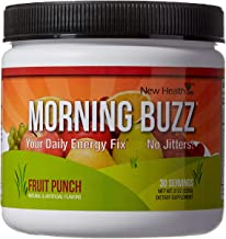 Morning Buzz Sports Energy Drink Mix by New Health, Pre Workout, Sports Nutrition Drink,..