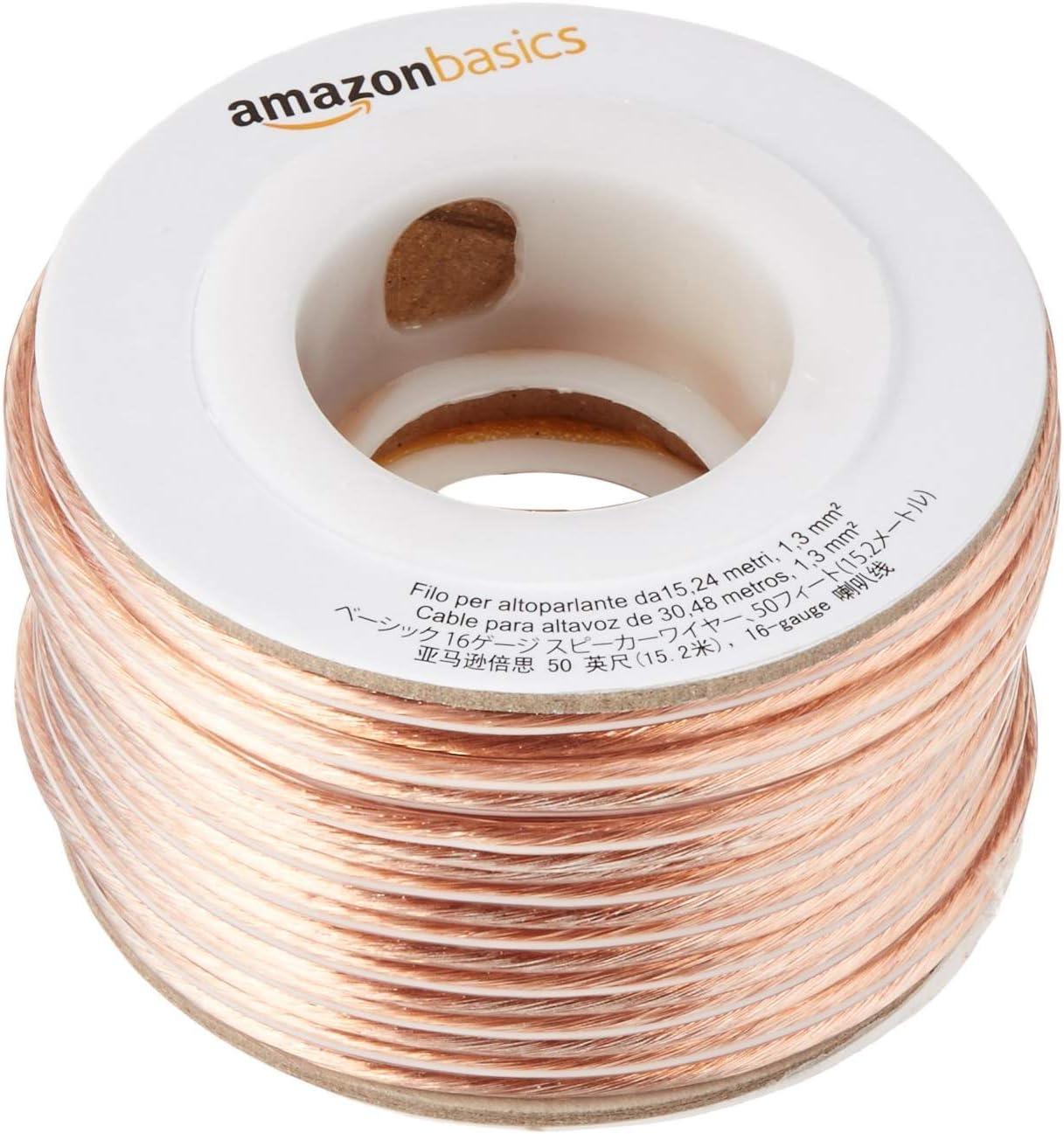 Amazon Basics 16 Gauge Speaker Wire 50 Feet Elektronik