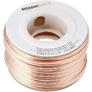 AmazonBasics 16-Gauge Audio Stereo Speaker Wire Cable - 50 Feet