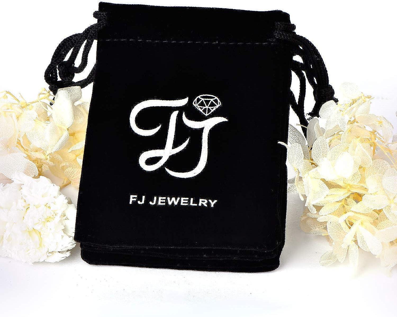 FJ Black Leather Choker Necklace for Women