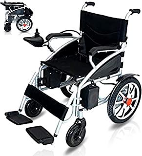 Ephesus M5 | New Model | Portable Mobility Electric Motorized Wheelchair, Lightweight Easy to Carry, 360° Joystick Control | Premium Quality Lithium Battery Included | Long Mileage Range (Black -WIDE)