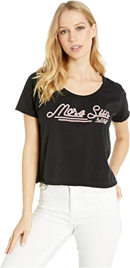 More Sun Cropped Boyfriend Crew T-Shirt