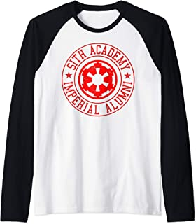 Star Wars Sith Academy Alumni Red Logo Manche Raglan