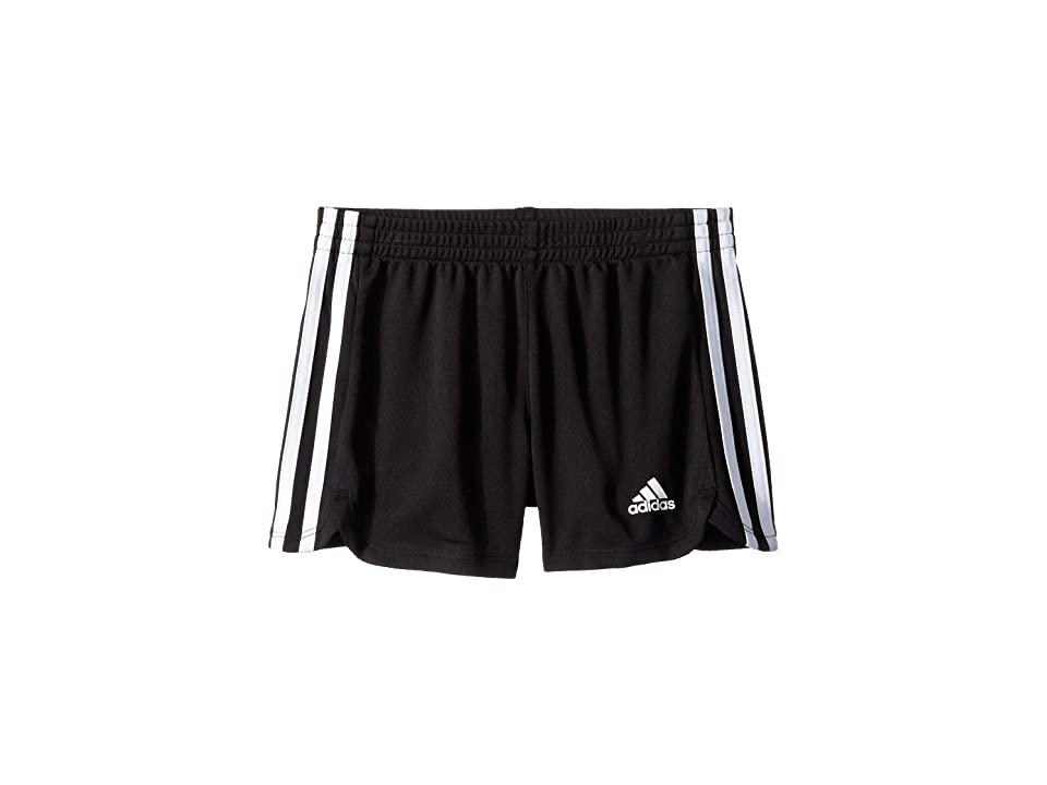 Image of adidas Kids 3 Stripe Mesh Shorts (Toddler/Little Kids) (Black) Boy's Shorts