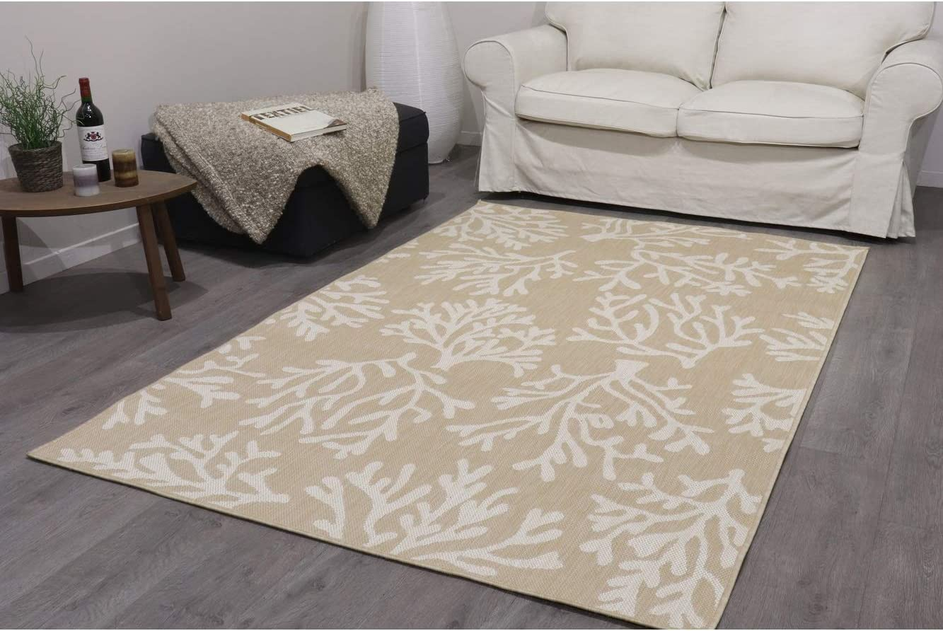 Unknown1 Home Ranking TOP19 Indoor Outdoor Tan Coral Area Same day shipping Per Print 8'x10' Rug