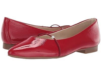 Paul Green TJ Flat (Scarlet Crinkled Patent) Women