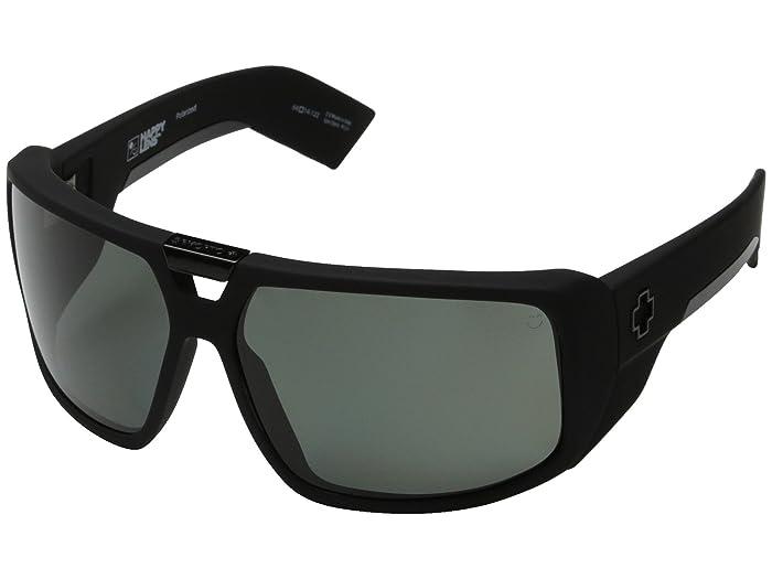 Spy Optic Touring (Soft Matte Black/Happy Gray Green Polar) Sport Sunglasses