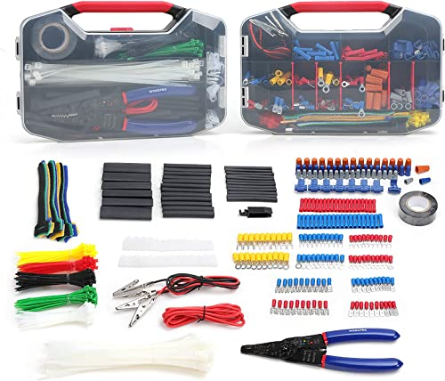 high quality WORKPRO 582-piece Crimp Terminals, Wire Connectors, Heat Shrink Tube, Electrical Repair outlet sale Kit popular with Wire Cutter Stripper online sale