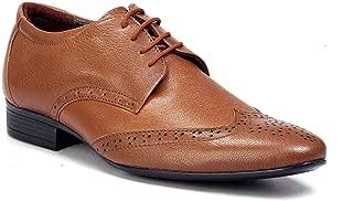 Levanse Matt Brown Top Grain Leather Corporate Formal Shoes for Men/Boys