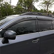 Vesul New Updated Side Window Visor Vent Rain Guard Shield Wind Deflectors Sun Shade Compatible with Subaru Outback Smoke Gray 2015 2016 2017 2018 2019 2020