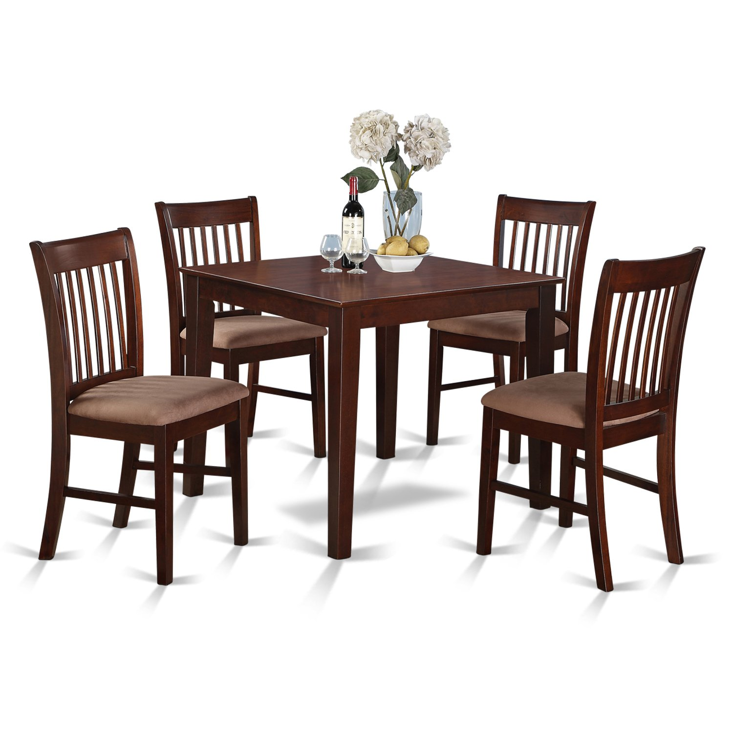 9 Pc Kitchen Table set - square Table and 9 Dining Chairs