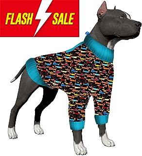 LovinPet Large Dog Pajamas, Post Surgery Wear Pitbull Cotton Large Dog Shirt for Labrador Doberman Boxer