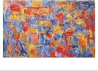 Map by Jasper Johns Art Print, 14 x 11 inches