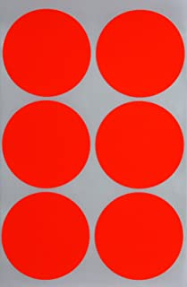 Royal Green - Neon Red Sticker 50mm - Circle 2