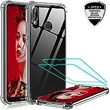 LeYi per Cover Huawei P20 Lite Custodia con Vetro Temperato [2 Pack], Nuovo Silicone Trasparente Hard PC Bumper TPU Smartphone Telefono Case per Custodie Cellulare Huawei P20 Lite Crystal Clear