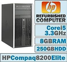 HP Compaq 8200 Elite MT/Core i5-2500 @ 3.3 GHz/8GB DDR3/250GB HDD/DVD-RW/WINDOWS 7 PRO 64 BIT