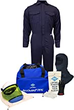 National Safety Apparel KIT2CV11BXL12 ArcGuard UltraSoft Arc Flash Kit with Coverall and Balaclava, 12 Calorie, X-Large, Size 12, Navy