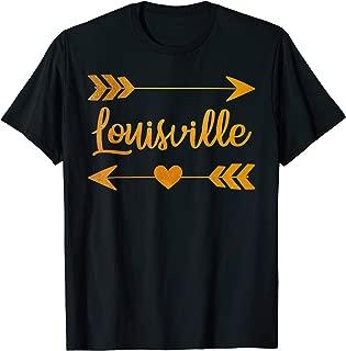 LOUISVILLE KY KENTUCKY Funny City Home Roots USA Women Gift T-Shirt