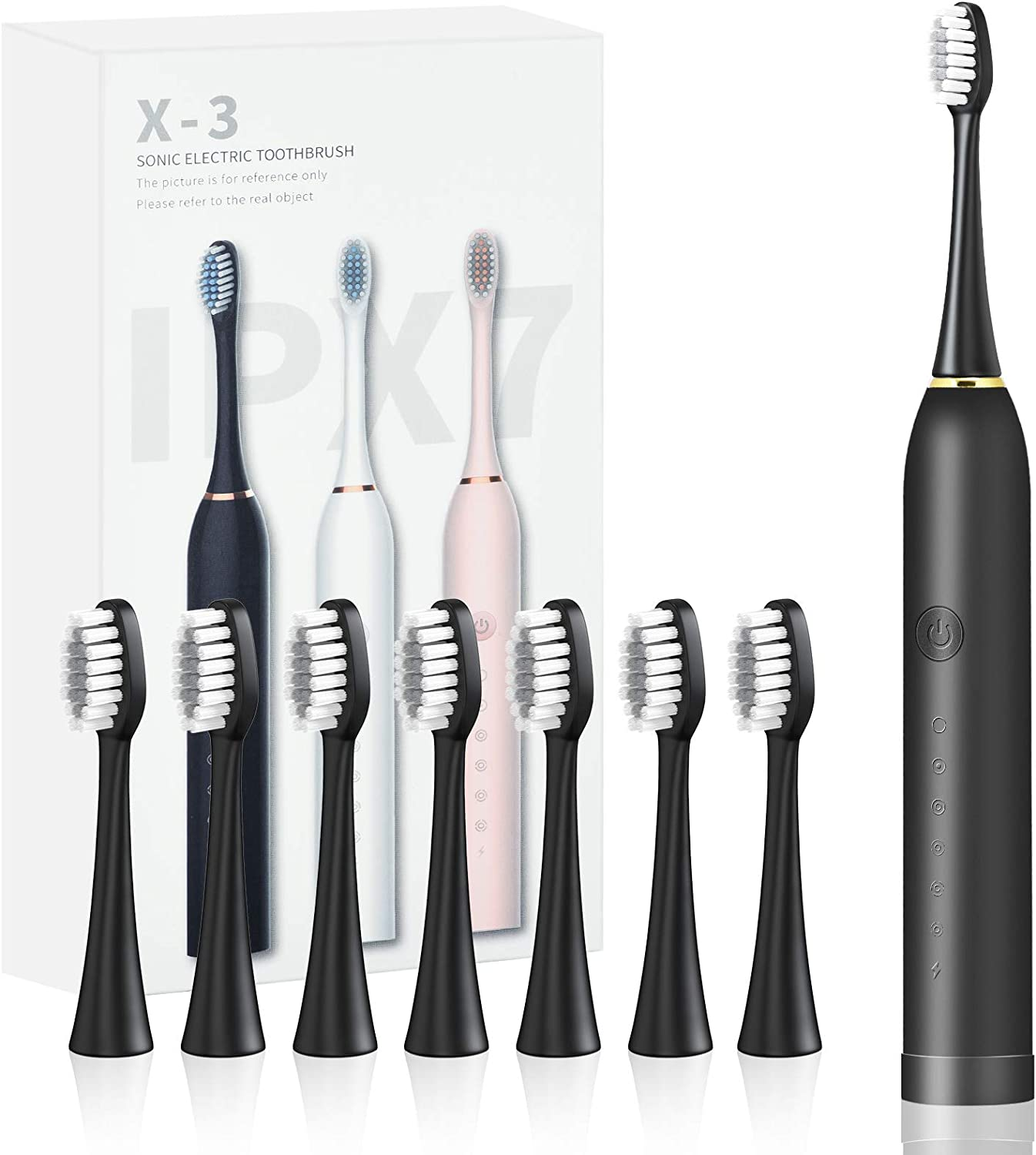 Electric Toothbrush with 2021new shipping free 8 Dupont Brush IPX7 6 In a popularity Heads Modes Wat