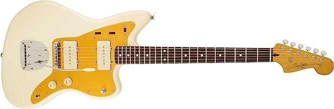Squier by Fender J Mascis Signature Series Jazzmaster Electric Guitar - Laurel Fingerboard - Vintage White
