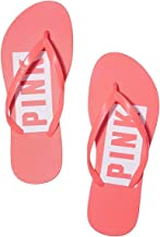 victoria Secret Pink Flip Flop Sandals New Print Color Orange, Large