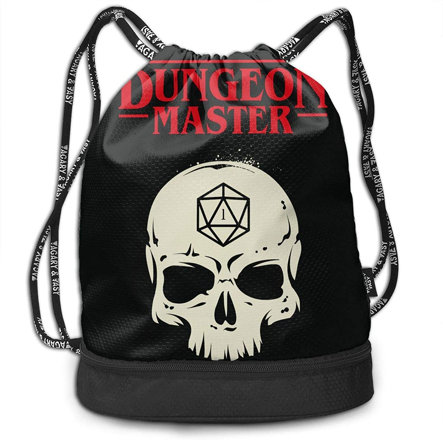 b9c22540e5ee 3D Print Drawstring Backpack Master DM D20 Dice Slaying Dragons in ...
