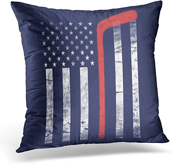 VANMI Throw Pillow Cover Sport Hockey Croquet Decorative Pillow Case Home Decor Square 18x18 Inches Pillowcase