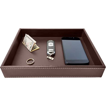 leather organizer housewarming gift gift for him Leather Coin Tray Holder Office tray Leather tray desk organizer leather bowl