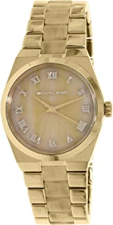 Michael Kors Watches Channing Three Hand Stainless Steel Watch (Gold)