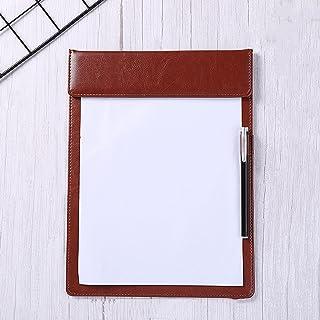 File Folders 5 حزم A4 الكتابة لوحة الحافظة كليب متعدد الألوان الجلود مجلد الأعمال توقيع مجلس الكتابة مع إدراج القلم (أحمر/...