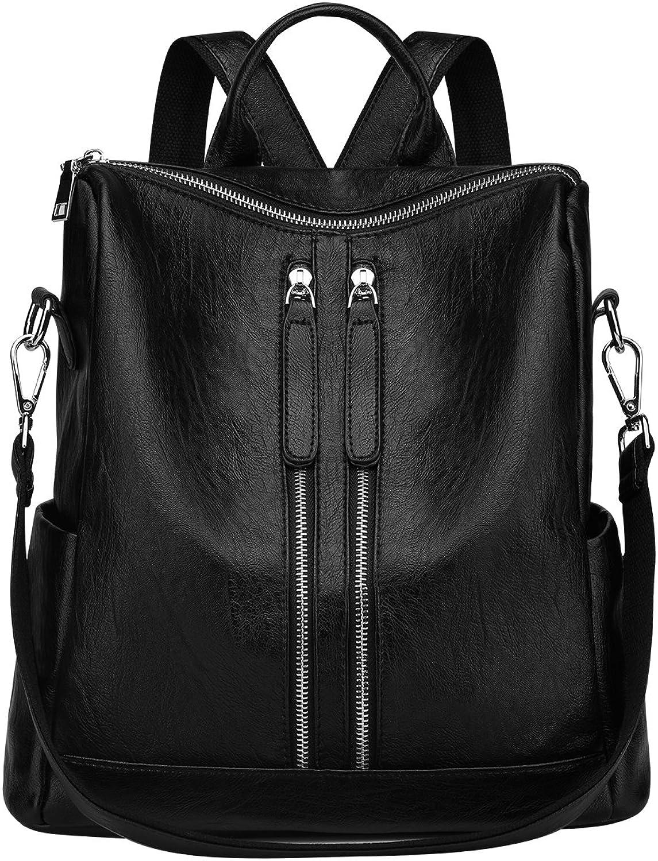 SAMSHOWME Lightweight Women PU Leather Backpack Shoulder Bag Casual Purse