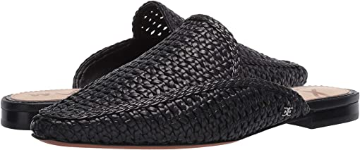 Black Zebu Woven Leather