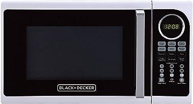 Black+Decker EM925ACP-P1 0.9 Cu. Ft. Digital Microwave, White
