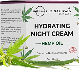 O Naturals Repairing Organic Hemp Oil Face Moisturizer Hydrating Night Cream. Hyaluronic Acid Anti Aging Face & Neck Cream...