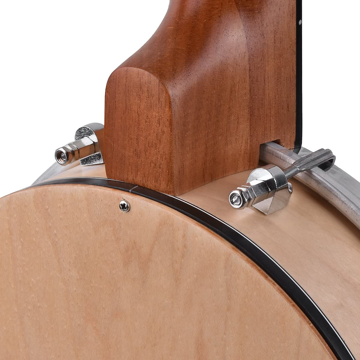 Kmise Banjo Ukulele 4 String Concert Banjos Sapele Aquila String Flying Bird Dots