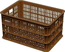 Fietskrat Basil Crate large 50 liter - Saddle Brown