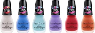SinfulColors Matte Nail Polish Collection, Pack of 6 (Radical Matte Top Coat, Blue Me Away, State-Mint,Purplexed, Dragonfly, Color Craze)