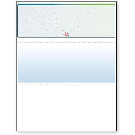 DocuGard Blue/Green Prismatic Sunburst Top Check, 8.5 x 11 Inches, 24 lb, 500 Sheets, 1 Check Per Sheet (04565), Blue/Green Sunburst