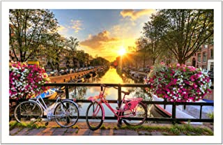 Pintoo Jigsaw Puzzle: Beautiful Sunrise over Amsterdam - 1000pcs