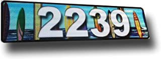 Surfboards, Curb, Mailbox, House Address Plaque, Reflective