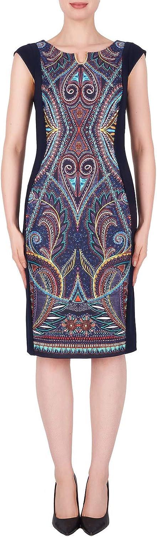 Joseph Ribkoff Midnight bluee Multi Dress Style 191741