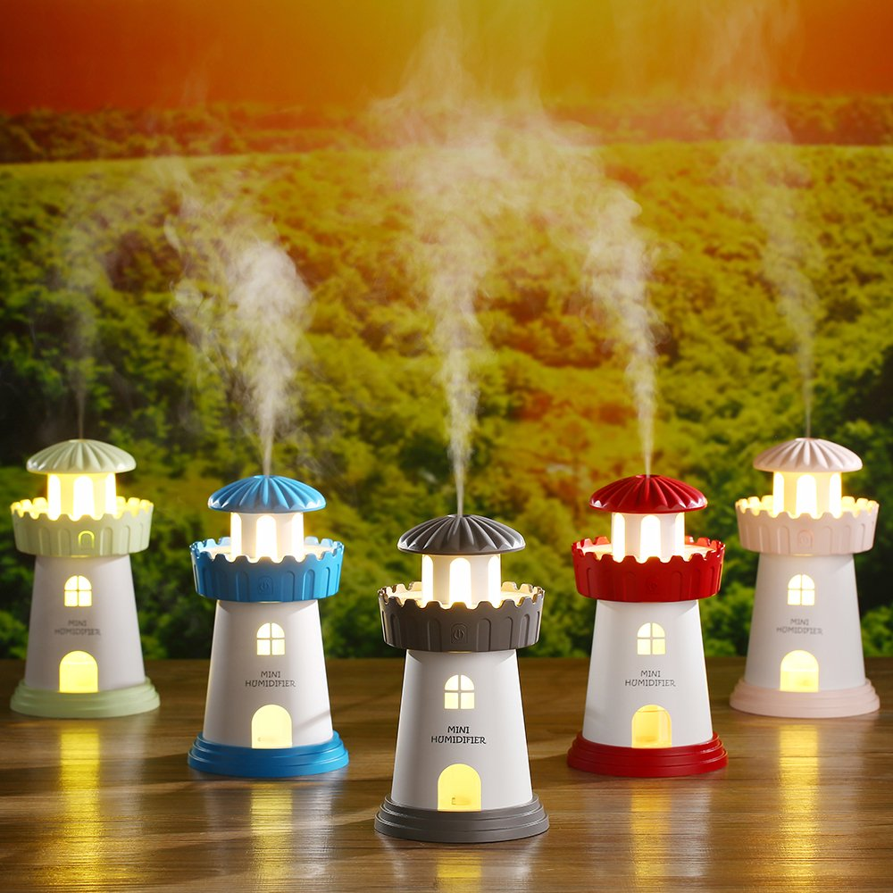 HSRG Mini Faro humidificador luz de Noche Mudo hogar Escritorio ...
