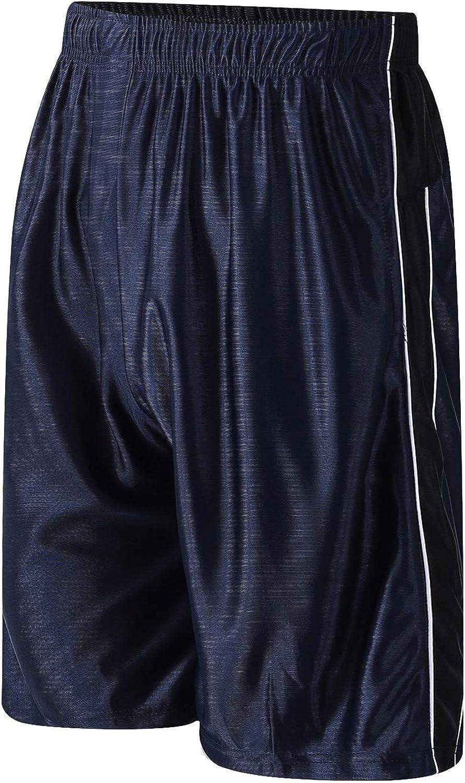 PTSports Men's 11'' Cool Basketball Shorts with Pockets Long Gym Athletic Shorts Running Quick-Dry Drawstring: Clothing