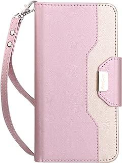 ProCase Wallet Case for Google Pixel 3 XL, Flip Kickstand Case with Card Slots Mirror Wristlet, Folding Stand Protective Cover for Google Pixel 3XL (2018 Release) -Pink