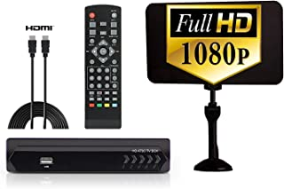 Exuby Digital Converter Box for TV w/ Antenna, HDMI & RCA Cable for Recording & Watching Full HD Digital Channels - Instan...