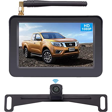 AMTIFO Backup Camera for Cars,RVs,Trucks Upgraded HD Camera 150 Degree Perfect Viewing Angle Camera Reverse//Front View Switchable ON//Off Guide Lines IP69 Waterproof